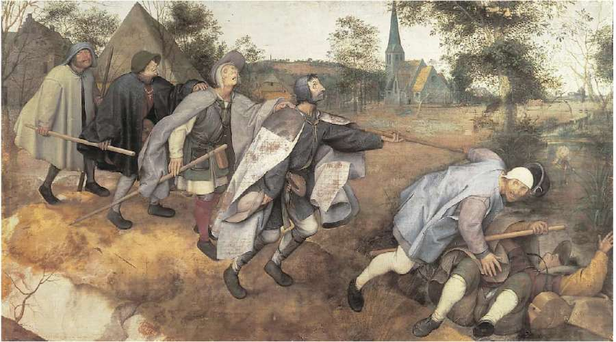 The Blind Leading the Blind (De parabel der blinden) by Pieter Bruegel the Elder