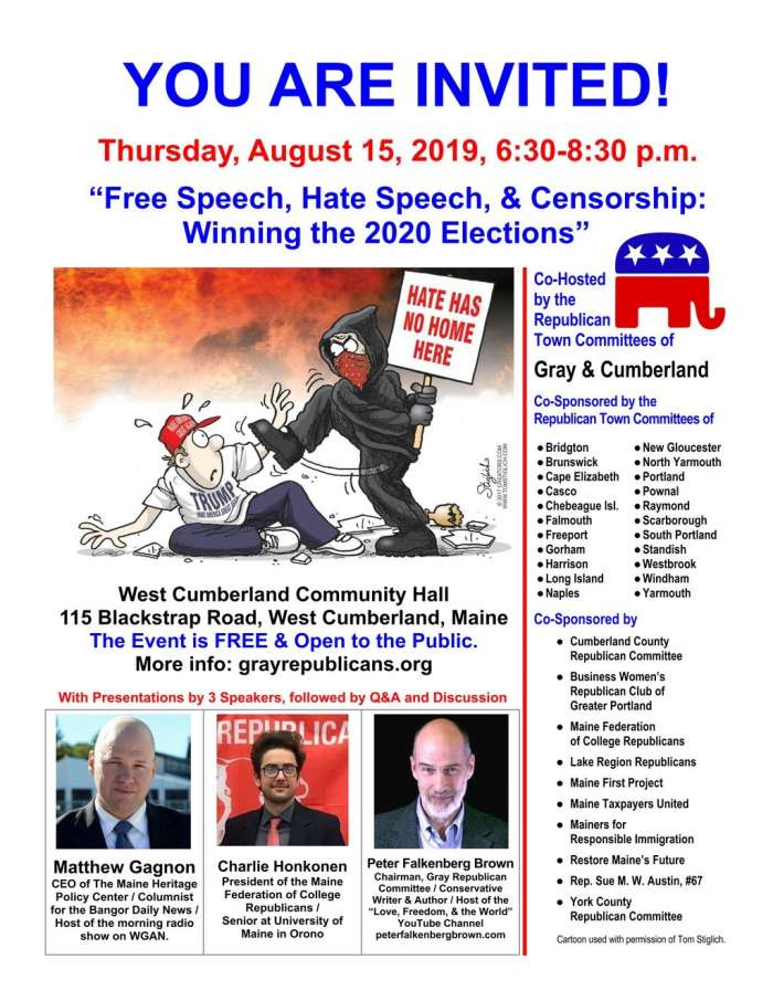 Event Flyer: Free Speech, Hate Speech, & Censorship: Winning the 2020 Elections