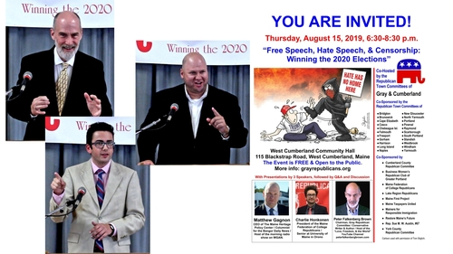 Event: Free Speech, Hate Speech, & Censorship: Winning the 2020 Elections
